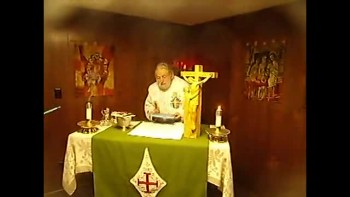 Fr. Rookey Gives Mass Blessing-Sept 2011