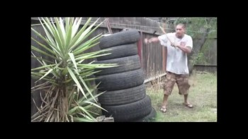 Filipino Martial Arts Tire Practice Part 1