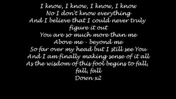Point of Grace Down with Lyrics