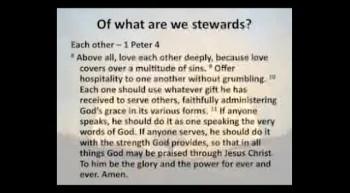 Service 11-20-11 - Stewardship