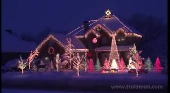 'Amazing Grace' Christmas Light Show