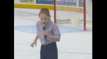 Christopher Duffley sings National Anthem