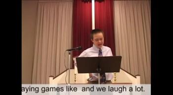 Jacob's Confirmation Sermon