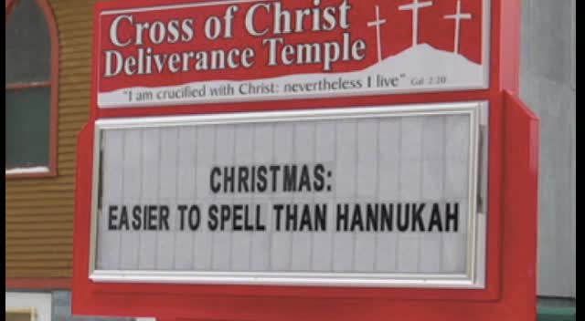Funny Christmas Church Signs Am 1420