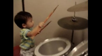 Twenty-Three Month Old Drummer Boy