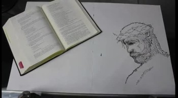 The Bible Written into Art (Timelapse)
