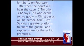 The Evening Prayer - 20 Jan 12 - Egypt:  Christian on Trial for Insulting Islam