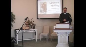 Worship Service, Pt 1; 1/22/2012 First Presbyterian Church, Perkasie PA OPC
