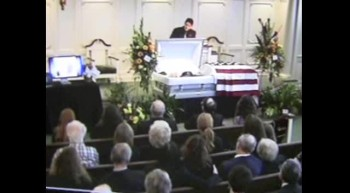 Marcus Davis at Jerry Becka Funeral