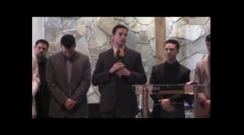 Omar Malic leading Loving Hands' service @ Ashton Mennonite in Sarasota, FL
