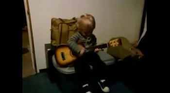Masen (grandson) on guitar