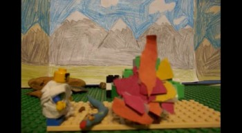 Lego Moses and the Burning Bush