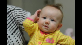 Baby reacts to Gospel story
