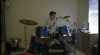 Where I  belong by Building 429 drum cover