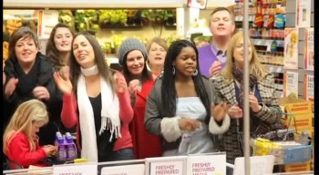 AWESOME Gospel Choir Flash Mob! Lovely Day Christian Version