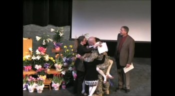 Solider Surprises Family on Easter at Church