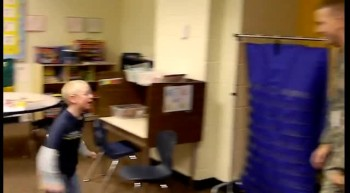 U.S. Soldier Surprises Little Brother at School