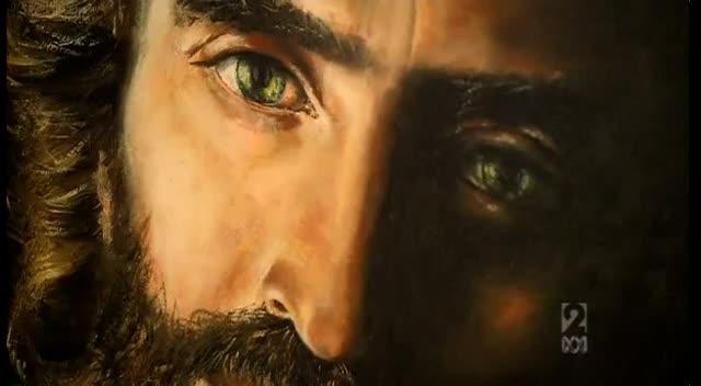 Little Girl Artist Paints Jesus