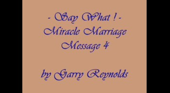 Miracle Marriage Messages 4 of 4
