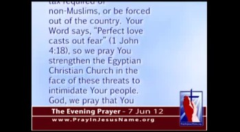 The Evening Prayer - 07 June 12 - Muslim Presidential Candidate in Egypt Wants to Tax Non-Muslims