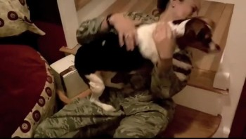 So Heartwarming! U.S. Airman Welcomed Home by Dog