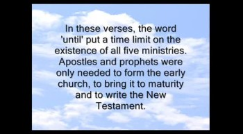 Apostles And Prophets Today