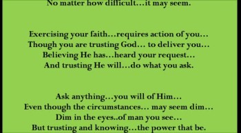 Exercising Your Faith