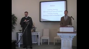 """Congregational Hymn: """"Leaning on the Everlasting Arms"""" First OPC Perkasie, PA 6/24/12"""