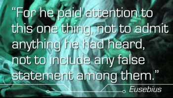 External Evidence Test: Literary, Papius