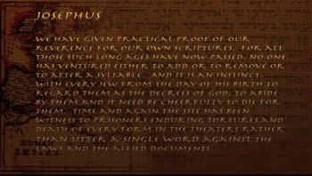Old Testament: Never Altering Scripture