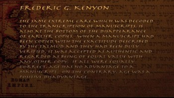 Old Testament: Kenyon's Observation