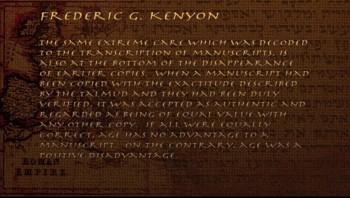 Old Testament: Kenyon's Observation