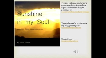 Sunshine in my Soul Worship Band Accompaniment