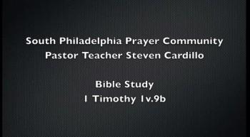 Bible study- 1Timothy 1v.9b