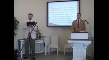 """Congregational Hymn: """"Lord, Our Lord, Thy Glorious Name,"""" First OPC Perkasie, PA 7/08/12"""