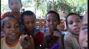 Singing Jesus, Be the Center at the Roslin Orphanage in Indonesia