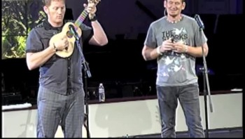 Tim Hawkins and I trying out some tweets during our show