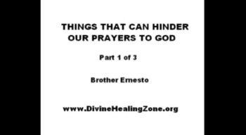 THINGS THAT CAN HINDER OUR PRAYERS TO GOD 1-3