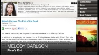 Melody Carlson on RIVER'S END