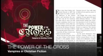 The Power of the Cross: Vampires in Christian Fiction