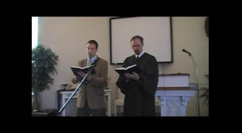 """""""Jesus, Thy Blood and Righteousness,"""" Waggoner & MacLaren, First OPC Perkasie, PA 10/21/12"""
