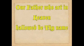 The Lord's Prayer with words