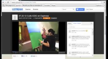 Células de Internet: Transmisión de cultos en vivo