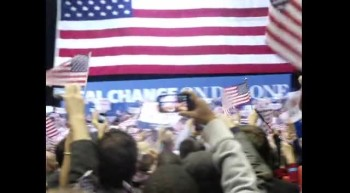 Mitt takes the Stage. Patriot Center. Nov. 5, 2012