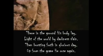 In Christ Alone featuring scenes from the Passion of the Christ with Lyrics