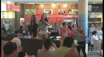 A Fun Christmas Food Court Flash Mob! All I Want for Christmas