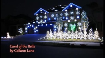 Amazing Christmas Light Show - Carol of the Bells