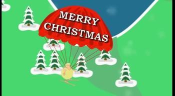 a snowy christmas kids video cartoon