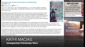 Homeless man on book cover leads to reuniting family