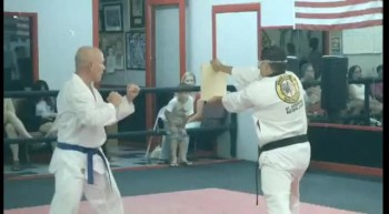 St. Augustine Tae Kwon Do - Spinning Hook Kick Board Break